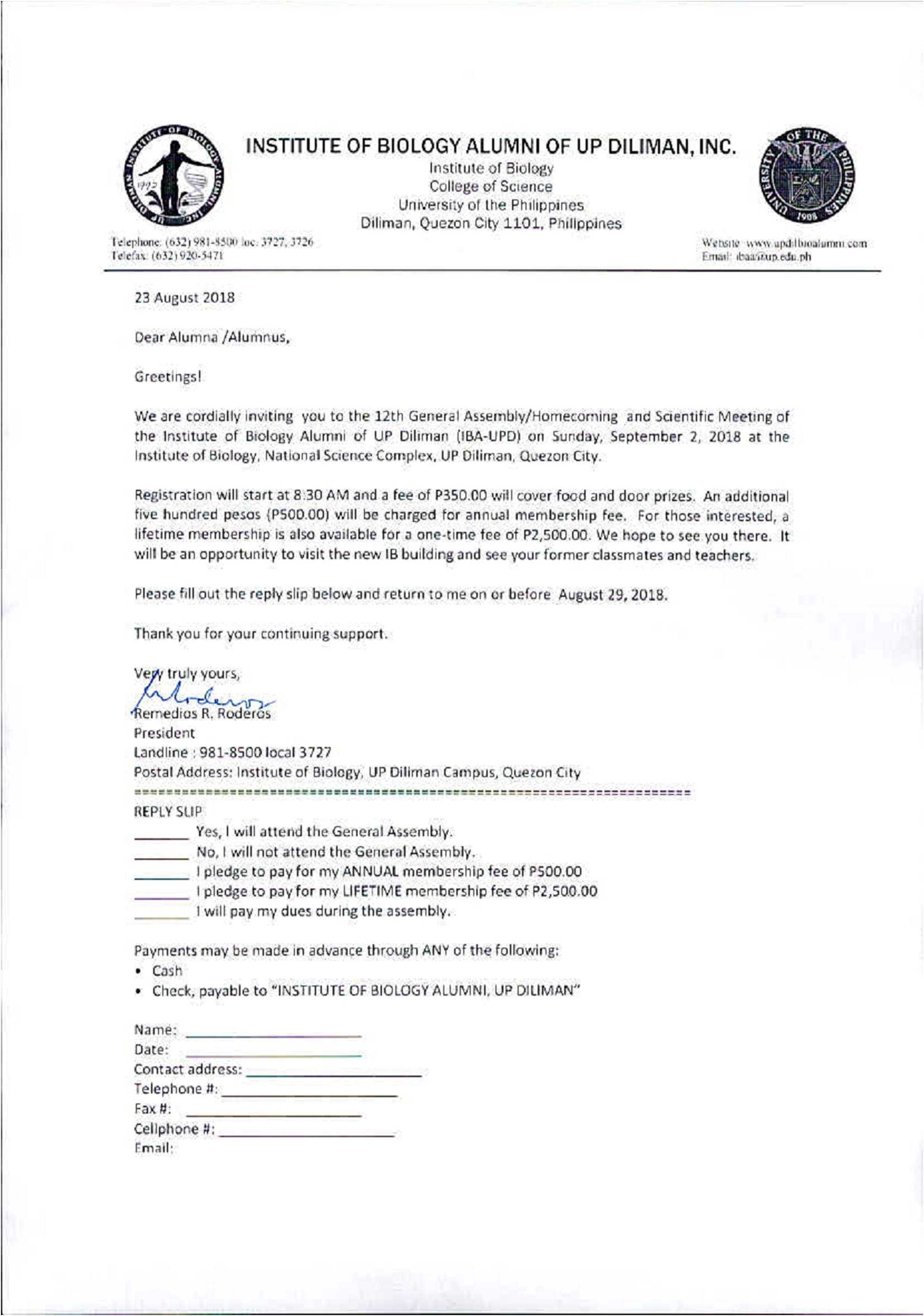 Iba Letter From Prof Roderos
